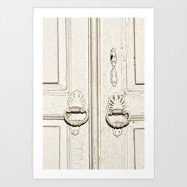 white old door Art Print