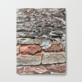 Tuscan Bricks Metal Print