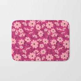 Cosmea pink Bath Mat