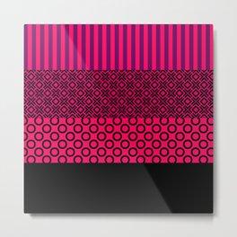 Set red black textile Metal Print
