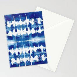 Shibori Tie Dye Indigo Blue Stationery Cards