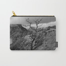 Withered Tree on top of Mountain Range, Big Bend - Landscape Photography Carry-All Pouch