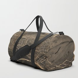 Aerial View of Oneonta, New York (1884) Duffle Bag