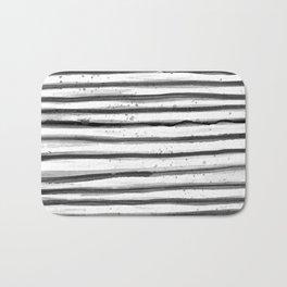 Zebra Swirl Stripe Bath Mat