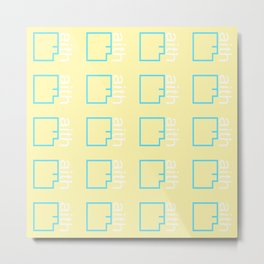 By Faith (teal & yellow) Metal Print