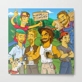 Simpsonized Gypsies Metal Print