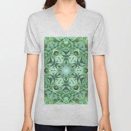 Mary Jane Mandala 2 (green) Unisex V-Neck