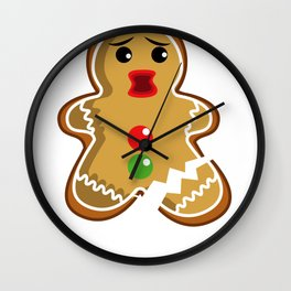 Gingerbread Christmas Damn break joke gift Wall Clock