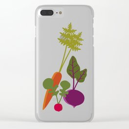 Vegetable Medley Clear iPhone Case