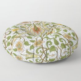 William Morris Narcissus, Daffodil, Calla Lily Textile Floral Print Floor Pillow
