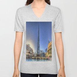 Burj Khalifa Dubai Unisex V-Neck
