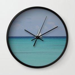 White sails Wall Clock