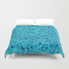 Blue Inklings Duvet Cover