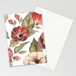 Circular Pink Florals Stationery Cards