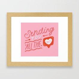 Sending You All the Likes Framed Art Print