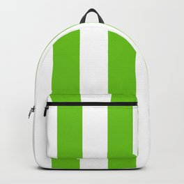 Alien Green and White Cabana Tent Stripes Backpack