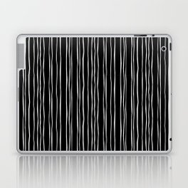 Wide Black Stripe Laptop & iPad Skin