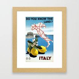 Vintage Italian Travel Poster- Italy Framed Art Print