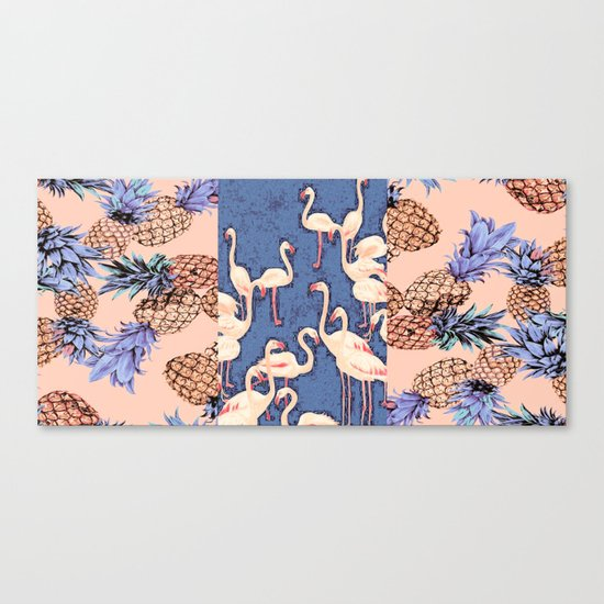 Combination with Pineapple  Canvas Print