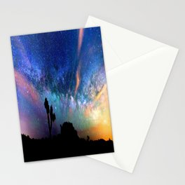 Colorful milky way Stationery Cards