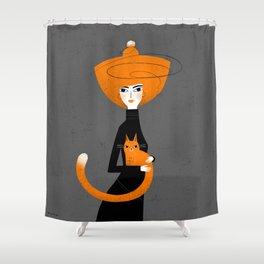 GINGER HUG Shower Curtain