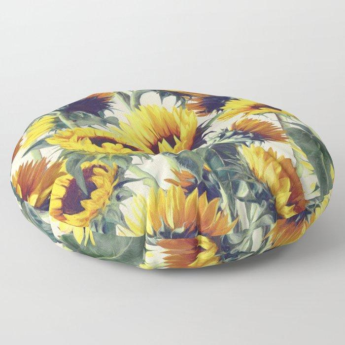 Sunflowers Forever Floor Pillow