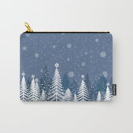 Winter Snow Forest Carry-All Pouch