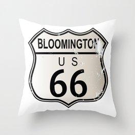 Bloomington Route 66 Throw Pillow