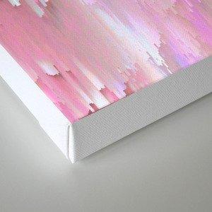 Pastel Glitches Fall Canvas Print