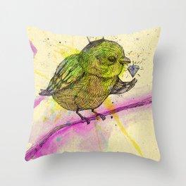 King Bird Throw Pillow