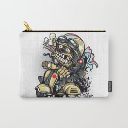 Smoke Skull Driver Moped - Texas cigar Carry-All Pouch