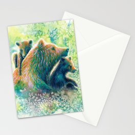 Mother Grizzly Bear Stationery Cards