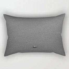 Lonely fisherman Rectangular Pillow