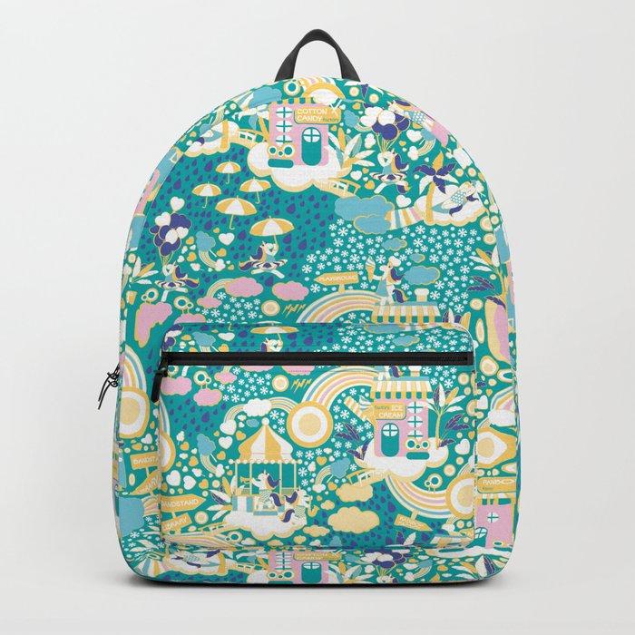 The secret map of Unicorns Village Backpack
