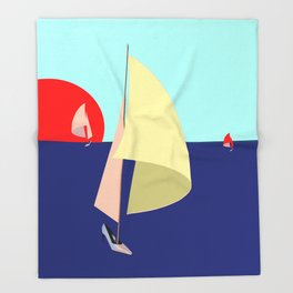 Sailing in May with May - shoes stories Throw Blanket