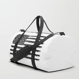 Black american flag Duffle Bag