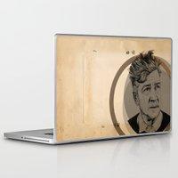 david lynch Laptop & iPad Skins featuring David Lynch Globe by Ruth Hannah