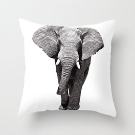 African Elephant 2 Throw Pillow