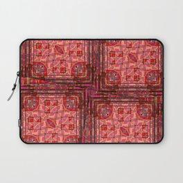 no. 197 orange pink pattern Laptop Sleeve