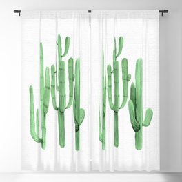 Cactus Trio Green by Nature Magick Blackout Curtain