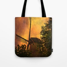 Old windmills in small town of Woudrichem, Holland Tote Bag