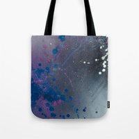 depression Tote Bags featuring Depression Rains by Shy Neon