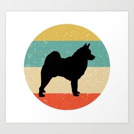 Norwegian Elkhound Dog Gift design Art Print