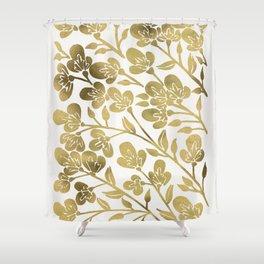Cherry Blossoms – Gold Palette Shower Curtain