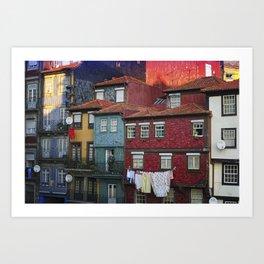 Colorful houses. Porto, Portugal. Art Print