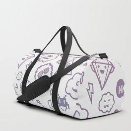 Icons Pattern Duffle Bag