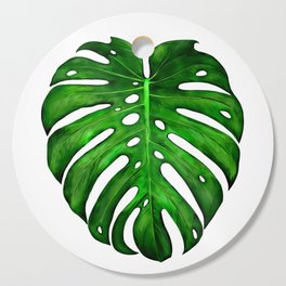 Monstera Leaf Paintings Cutting Board