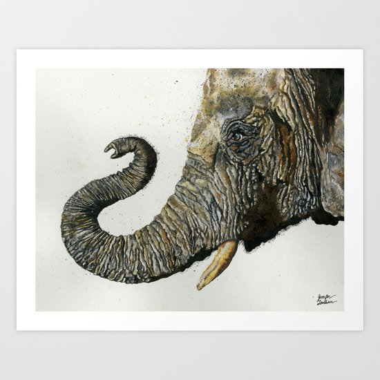 Elephant Cyril Art Print