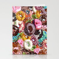 donuts Stationery Cards featuring Donuts by Tina Mooney