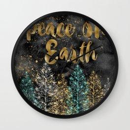 Peace on Earth Christmas Wall Clock